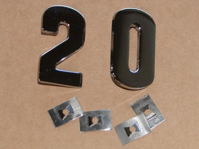 PS Zahlen für Lanz Bulldog D 2016 aus Metall verchromt auf die Motorhaube Foto 1