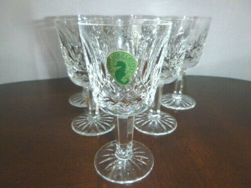 """Waterford Crystal LISMORE 4 1/4"""" Port Wine Goblets (Lot of 6) - Made in Ireland"""
