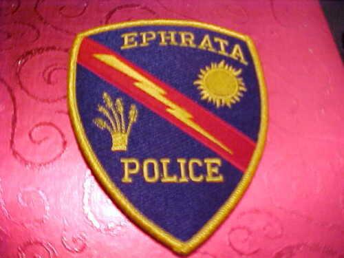 EPHRATA WASHINGTON POLICE PATCH SHOULDER SIZE UNUSED TYPE 3