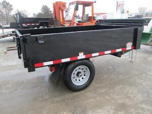 Single axle dump trailer - Comes loaded w/tarp kit and tool box London Ontario image 4