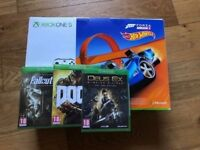 BRAND NEW IN BOX - XBOX ONE S Bundle / 6 BRAND NEW GAMES / with receipt