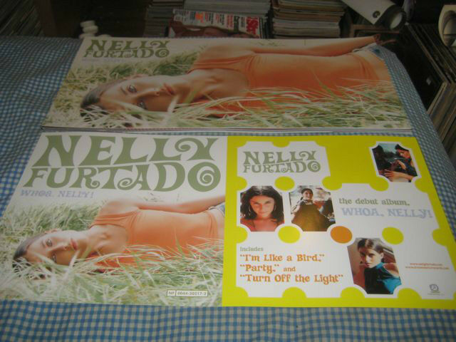 NELLY FURTADO-(whoa. nelly!)-1 POSTER FLAT-2 SIDED-12X24-NMINT-RARE