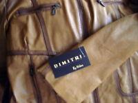 manteau brun cuir pour femme (L) - NEUF (cout reel 400$)