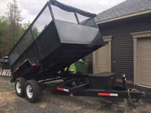 NEW 10000 POUND DUMP TRAILER 7X12 WITH 4FT SIDES PRICE $7990