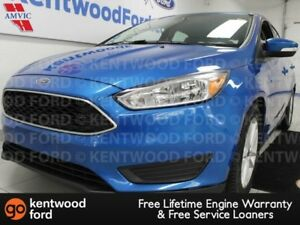 2015 Ford Focus SE in lightning blue and it has a back up cam