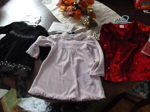 Girls 18 M and size 2 Holiday dresses and atching tights