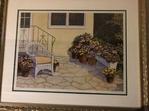 Flagstone Patio by Margo Chick  ltd. edition signed print