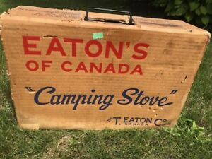 Vintage Eaton's Camp Stove with original box & instructions
