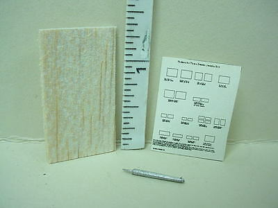 Dollhouse Miniature Wood, Pattern & Cutter- Mini Hobby/Craft