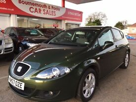 SEAT LEON 1.6 STYLANCE 5d 101 BHP NEW MOT, JUST SERVICED, RE (green) 2008