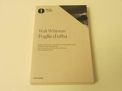 Walt Whitman FOGLIE D'ERBA (Testo inglese a fronte) - 2016 Oscar Mondadori NUOVO