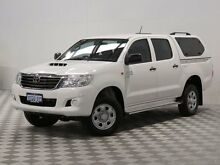 2013 Toyota Hilux KUN26R MY12 SR (4x4) White 5 Speed Manual Dual Cab Pick-up Jandakot Cockburn Area Preview