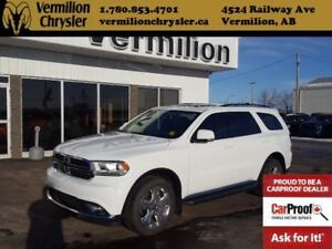 2015 Dodge Durango Limited, Dual DVD, Sunroof, Heated Leather