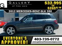 2012 Mercedes GLK350 4Matic $269 bi-weekly APPLY NOW DRIVE NOW