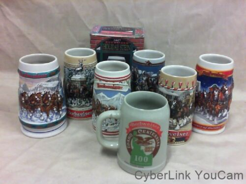 8 - BUDWEISER BEER STEINS