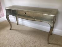 Silver Distressed Console Table
