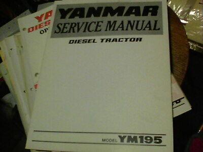 Yanmar Service Manual Diesel Tractor Model Ym195
