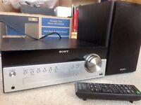Sony Home Audio System inc. CD, Bluetooth, DAB & FM, USB, Audio input, 20W speakers & remote