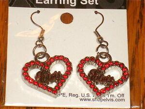 Elvis-Presley-Silver-Heart-Shaped-Earring-Set-Brand-New-Sealed-in-Package