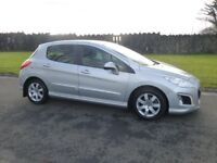 2013 PEUGEOT 308 HDI 1.6 ACTIVE 65000 MILES IMMACULATE THROUGHOUT FINANCE AVALIABLE