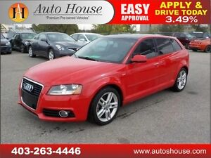 2011 Audi A3 2.0t quattro PANORAMIC ROOF AWD 90 DAYS NO PAYMENT