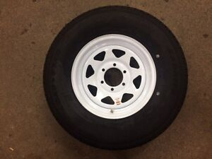 235/80R16 NEW WHITE SPOKE WHEELS & TIRES London Ontario image 1