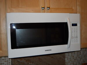 Samsung Over the Range Microwave white Price reduced