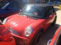 2004 MINI COOPER 1.6 PETROL MANUAL CONVERTIBLE CHILLI PACK 4 SEAT MOT RED N 1 SERIES MODIFIED GOLF