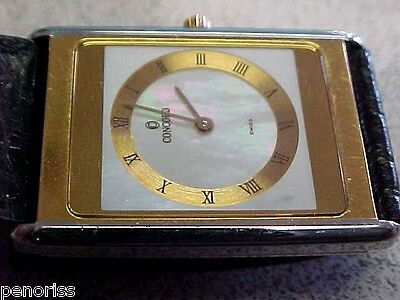 Spectacular 18k Gold & Stainless Steel Concord Watch Thinest model   Make Offer