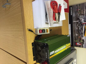 2000W Power Inverter- used only twice, selling as now unwanted, 24v.