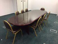 Dark Mahogany boardroom table
