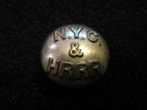 NEW YORK CENTRAL & HUDSON RIVER RAILROAD UNIFORM BUTTON  SIZE LARGE  NYC&HR