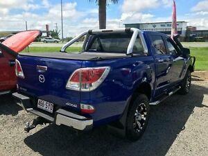 2012 Mazda BT-50 UP0YF1 GT Blue 6 Speed Manual Utility Mackay Mackay City Preview