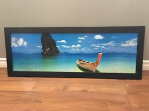 Beach and Boat Artwork