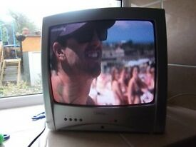"14"" portable colour tv with remote (possible delivery)"