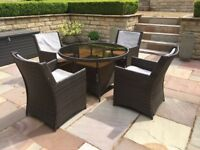 4 seater rattan dining garden furniture set
