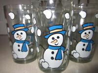 Set of 6 Snowman glasses