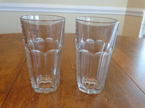 LIBBEY GIBRALTAR CLEAR 16 OUNCE COOLER GLASSES LOT OF 2