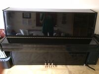 Black upright piano, great condition