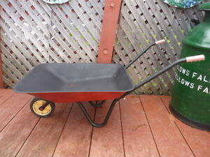 Rare Vintage Child's Steel Wheelbarrow