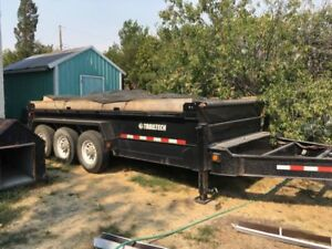 HEAVY THREE AXLE DUMP TRAILER FOR SALE