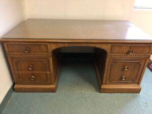 Large Antique Executive Desk