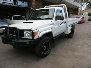2012 Toyota Landcruiser VDJ79R 09 Upgrade GX (4x4) White 5 Speed Manual Cab Chassis Kingsgrove Canterbury Area Preview