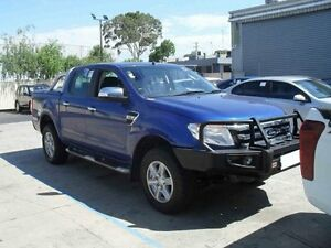 2012 Ford Ranger PX XLT Double Cab Blue Manual Utility Moorabbin Kingston Area Preview