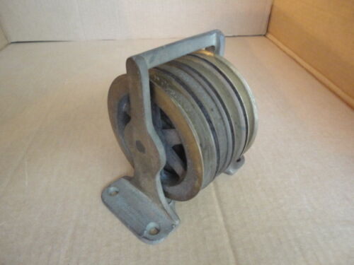 Vintage NOS Nautical Brass Pulley Block - Four Independent Brass Sheaves Lot