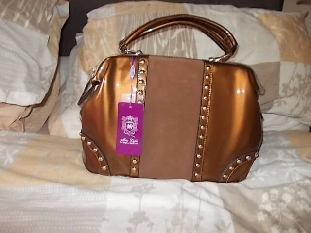 Miss Lulu Bronze look handbag (brand new) £30
