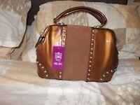 Miss Lulu Bronze look handbag (brand new) £30