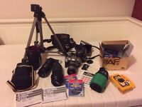 Photography bundle - film SLR cameras and lens