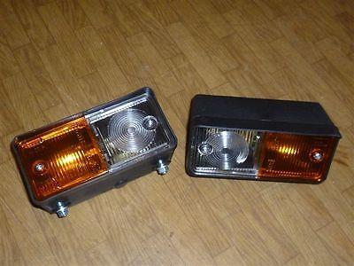2 Stück  Licht + Blinker Blinklicht Traktor Radlader Standlicht Begrenzungslicht
