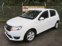 Dacia Sandero 0.9 Laureate TCe 5DR (white) 2014